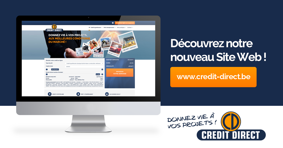 Crédit Direct Nouveau Site Web